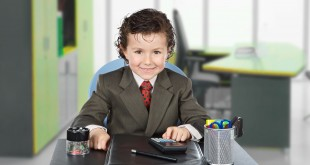 Adorable future businessman