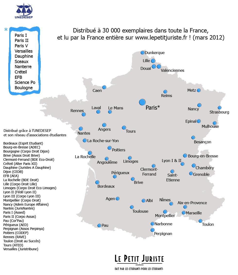 Carte De France Avec Les  Principales Villes