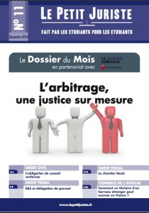 Le Petit Juriste n°11 – Déc 2010
