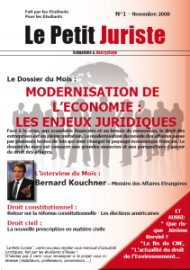 Le Petit Juriste n°1 – Nov 2008