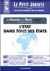 Le Petit Juriste n°15 – Décembre 2011