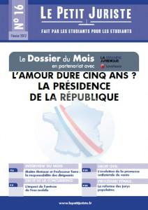 Le Petit Juriste n°16 – Janvier 2012