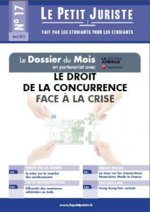 Le Petit Juriste n°17 – Avril 2012