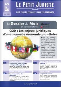 Le Petit Juriste n°5 – Oct 2009