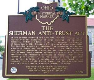 Sherman Antitrust Act Sign