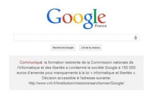 Protection des données personnelles : Google sanctionné par la CNIL