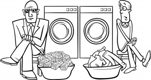 money laundering cartoon illustration
