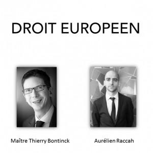 Présentation du Droit européen