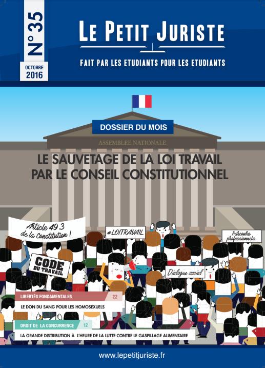 cover LPJ numero 35 special loi travail