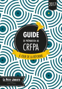 Le guide de préparation au CRFPA 2017 est disponible !