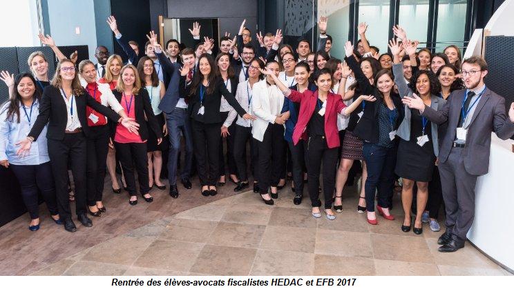rentrée des eleves avocats fiscalistes HEDAC et EFB 2017